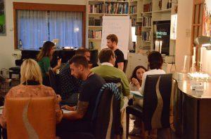 Candlelight workshop group session